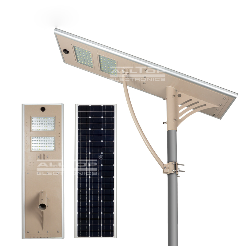 High lumen ip66 motion sensor outdoor solar led street light 60w price