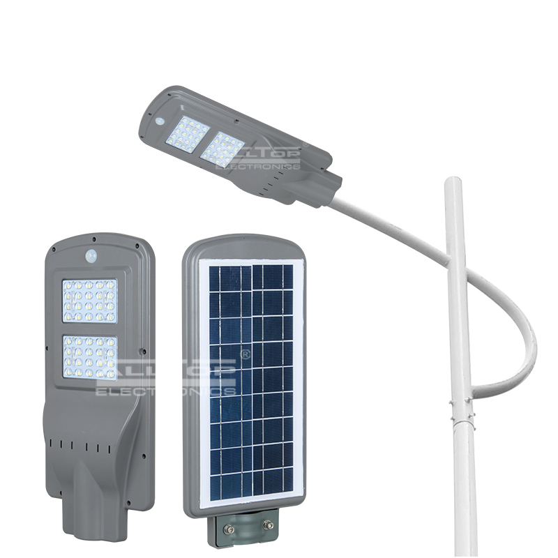 Outdoor ip65 waterproof garden adjust 20W 40W 60w all in one led solar street light