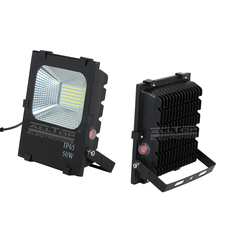 High power stadium lighting square ip65 outdoor waterproof 10w 20w 30w 50w 100w solar led flood light