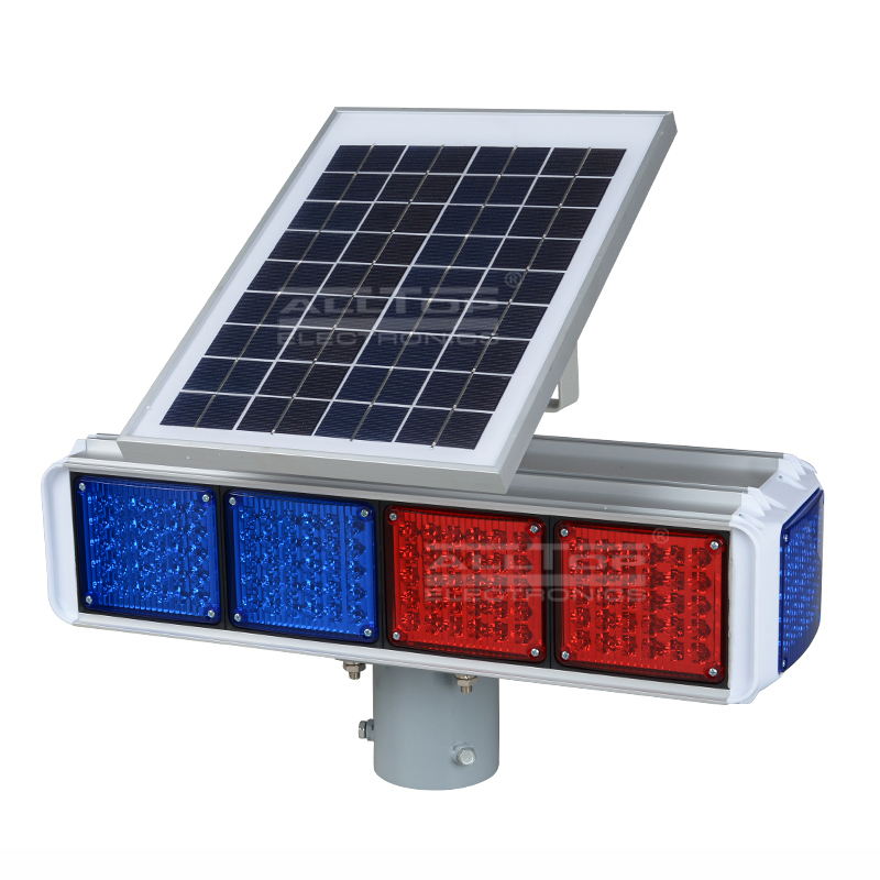 Portable 30w 36w waterproof double-side solar led traffic warning light