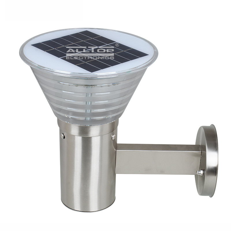 High lumen 5w stainless steel outdoor solar led wall light