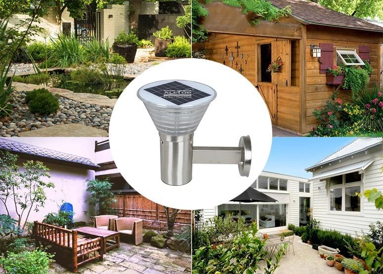 solar wall lamp outdoor stainless bulb solar wall lantern camp ALLTOP Brand