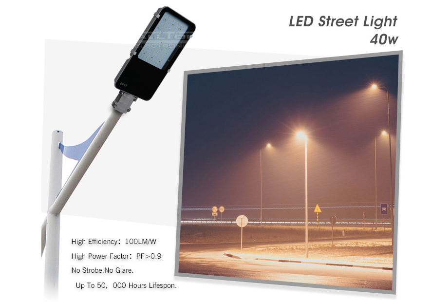 cool rohs commercial ALLTOP Brand led street light price manufacture