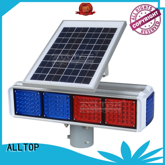 warning solar powered traffic lights flashing ALLTOP company