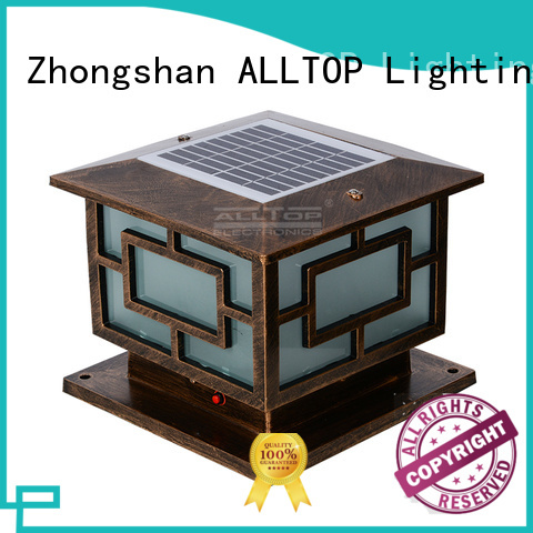 led landscape solar pillar lights outdoor ALLTOP Brand company