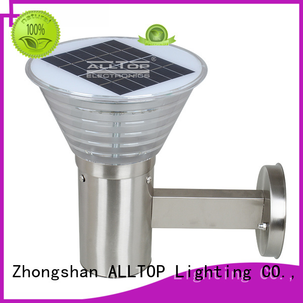solar wall lamp outdoor stainless bulb solar wall lantern camp ALLTOP Brand