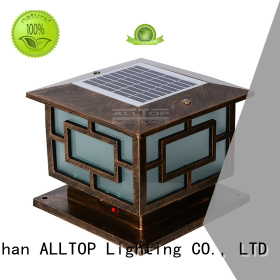 Hot waterproof solar pillar lights solar outdoor ALLTOP Brand