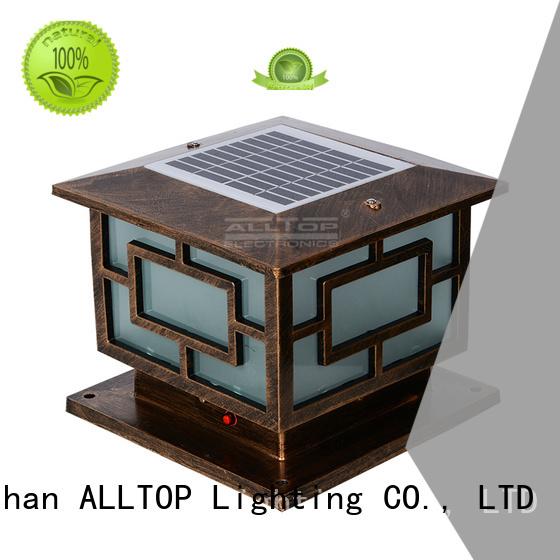 Hot waterproof solar pillar lights solar outdoor ALLTOP Brand