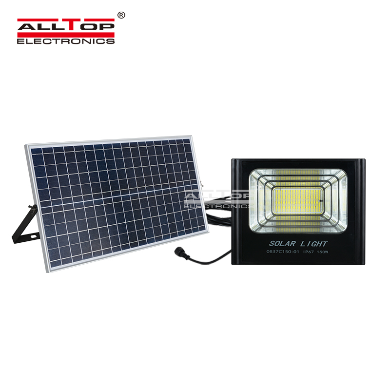 ALLTOP -Solar Flood Lights, Big Power Spotlight Foldable Dc 50w 100w 150w 200w