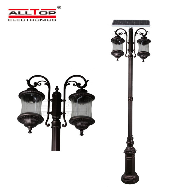 led light solar pillar lights pillar ALLTOP