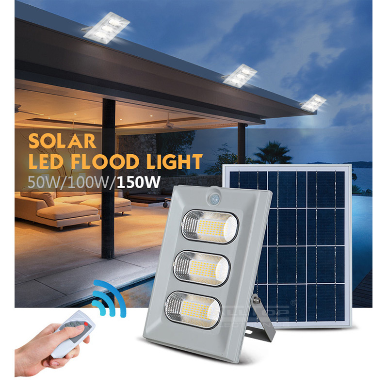 ALLTOP High lumen waterproof ip65 bridgelux 50w 100w 150w solar led flood light