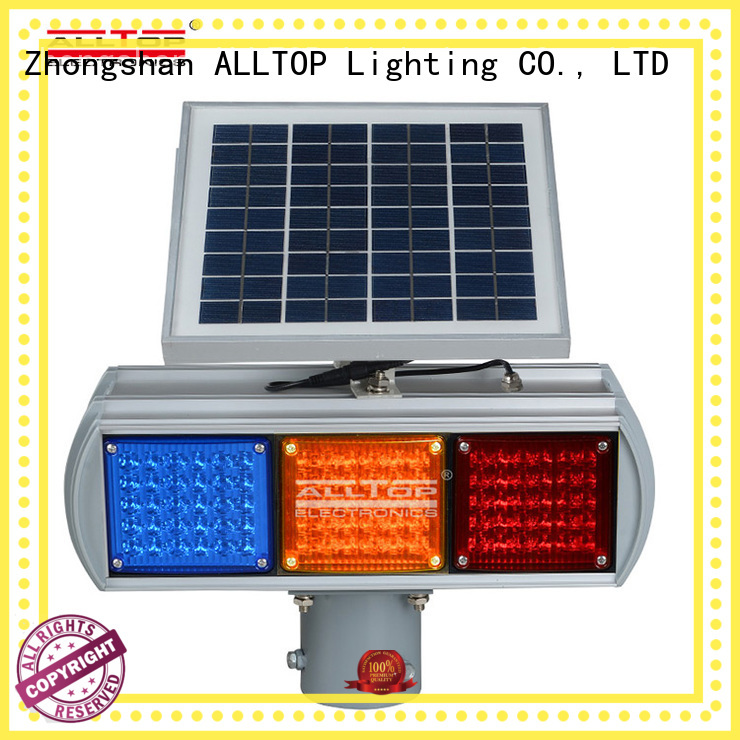flashing sided barricade ALLTOP Brand solar traffic light
