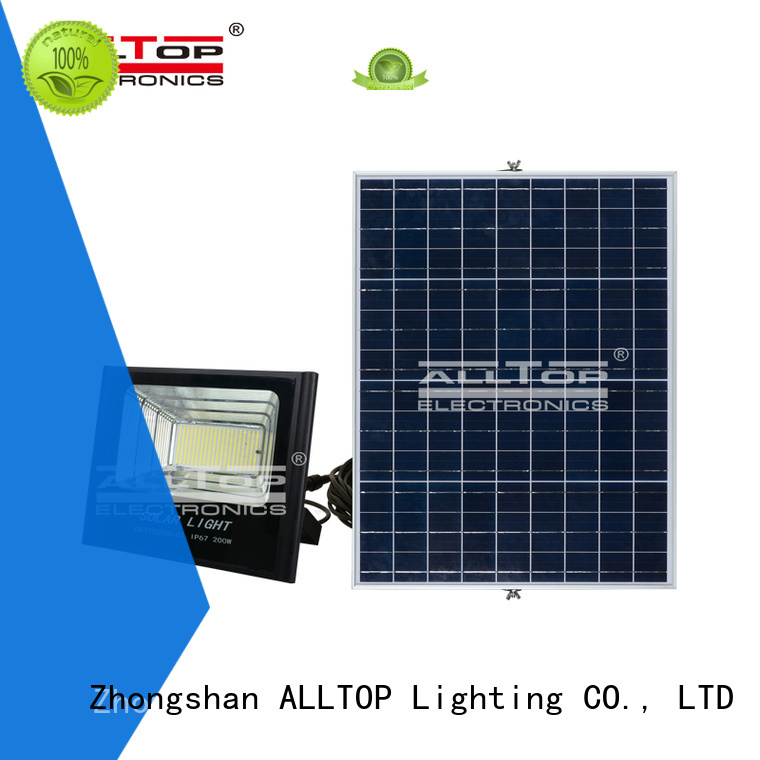 foldable alloy rechargeable OEM solar flood lights ALLTOP